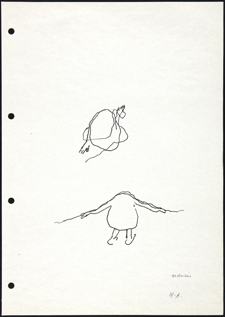 Hoja del cuaderno de dibujo