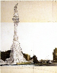 Wrapped Monument to Cristóbal Colón