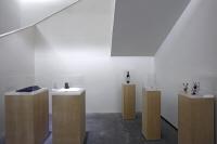 Instalación arquitectos: Rem Koolhas, Santiago Calatrava, Frank Lloyd Wright, Oscar Neimeyer, Frank Gehry