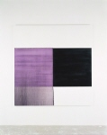 Exposed Painting. Intense Black Red Violet