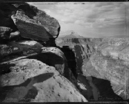 View of the Grand Canyon in homage to William Bell, east of Toroweap, 7/3/88