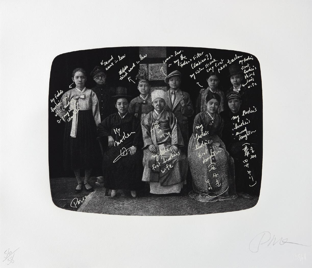 """Imagen del grabado con el título """"Family Picture without any Secrets"""""""