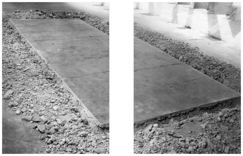 Rectángulo de 1000 x 400 cm. cortado sobre el suelo, mayo de 1993, 2003