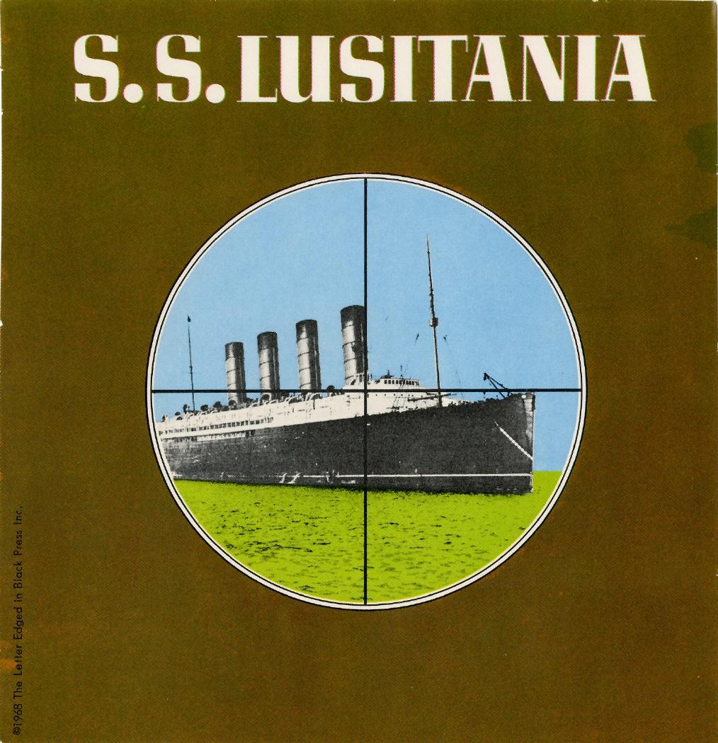 Imagen de la pegatina correspondiente al S.S. Lusitania