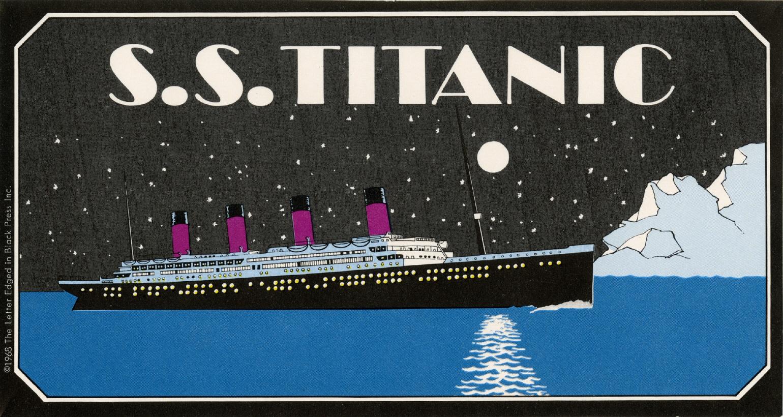 Imagen de la pegatina correspondiente al S.S. Titanic