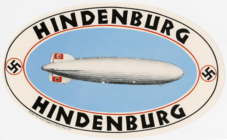 Imagen de la pegatina correspondiente al Hindenburg