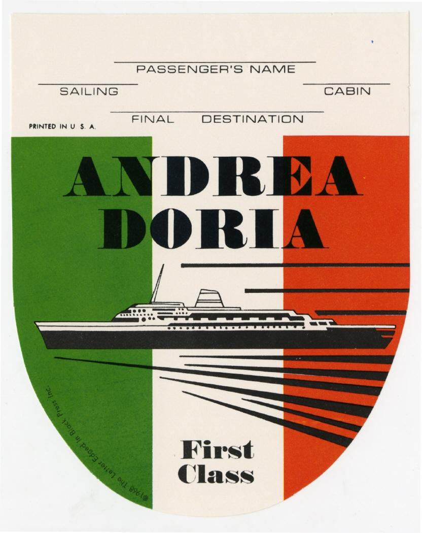 Imagen de la pegatina correspondiente al Andrea Doria