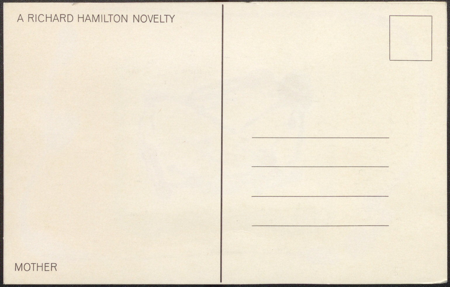 A Postal Card – For Mother (S.M.S. No. 1), 1968