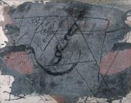 Grafismo sobre materia gris
