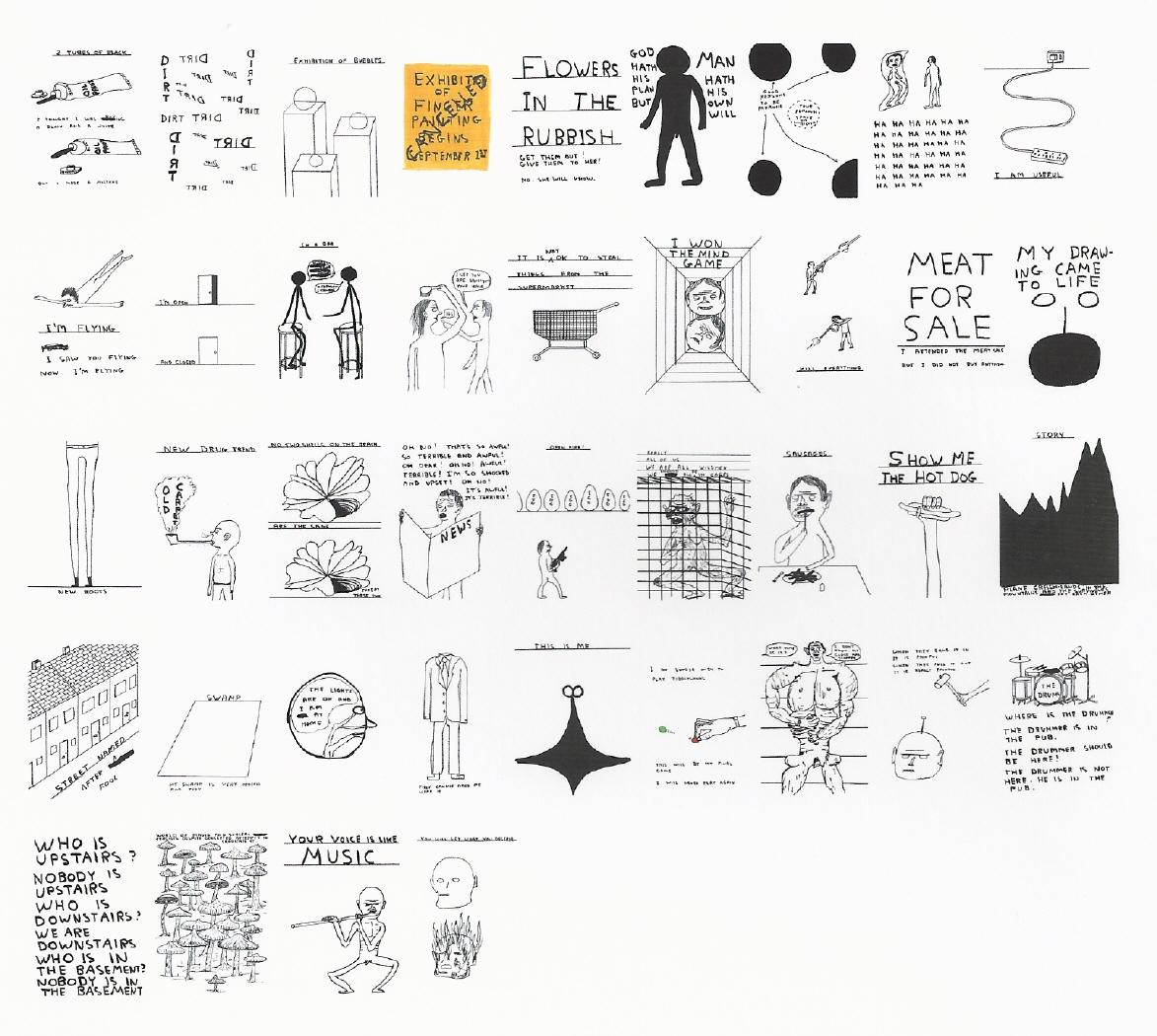 Imagen de los cuarenta dibujos que componen la pieza