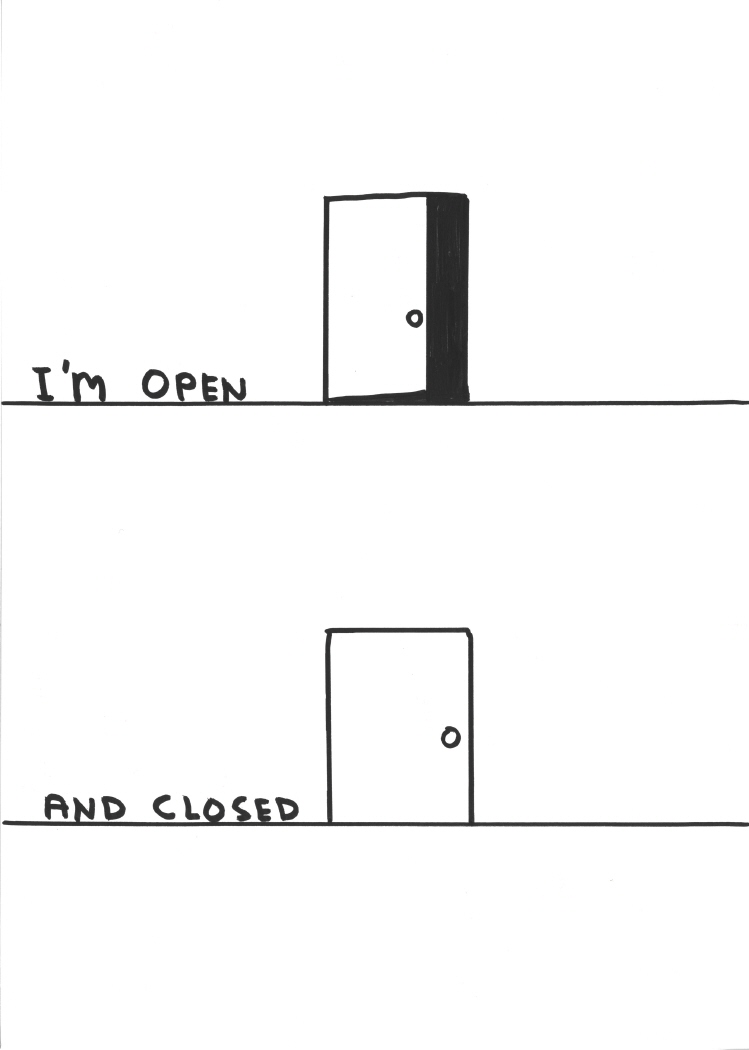 Untitled (I´m open and closed) (2010)