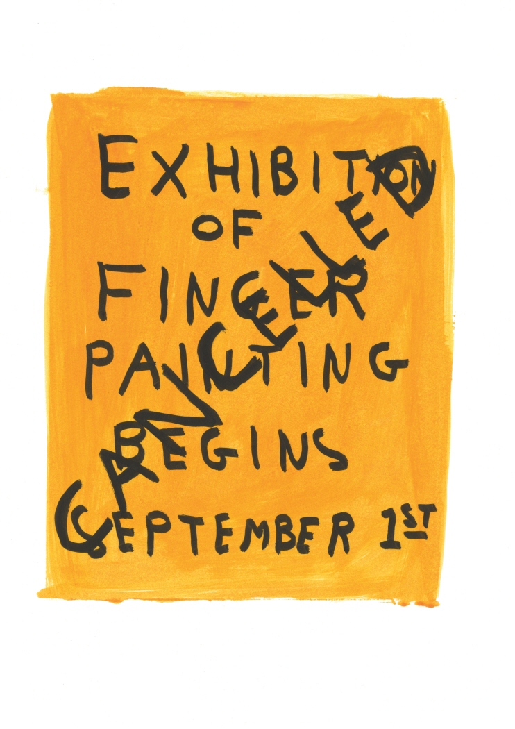 Untitled (Exhibition of finger) (2011)