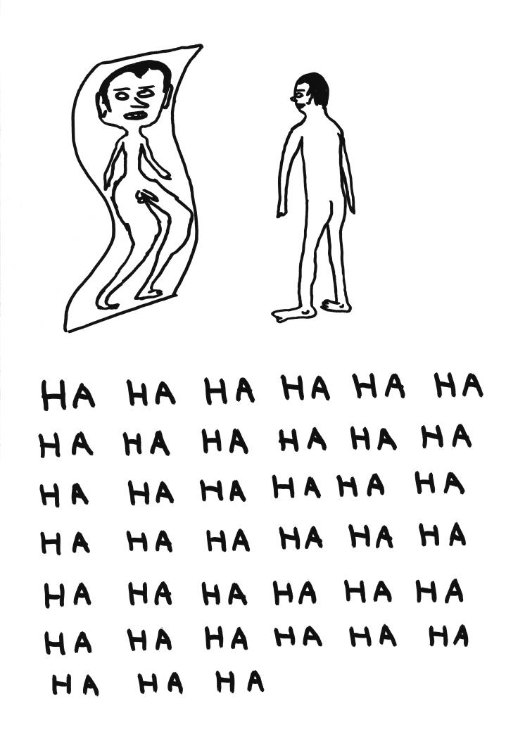 Untitled (Ha haha man at mirror) (2011)