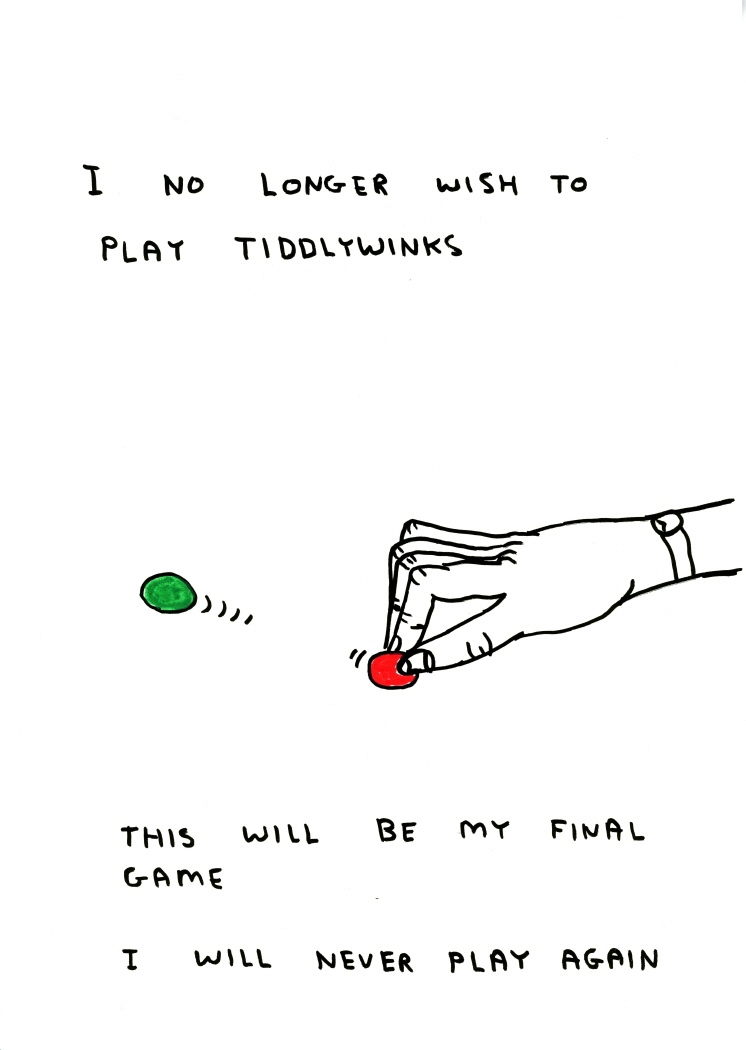 Untitled (I no longer wish to playtiddlywinks) (2011)