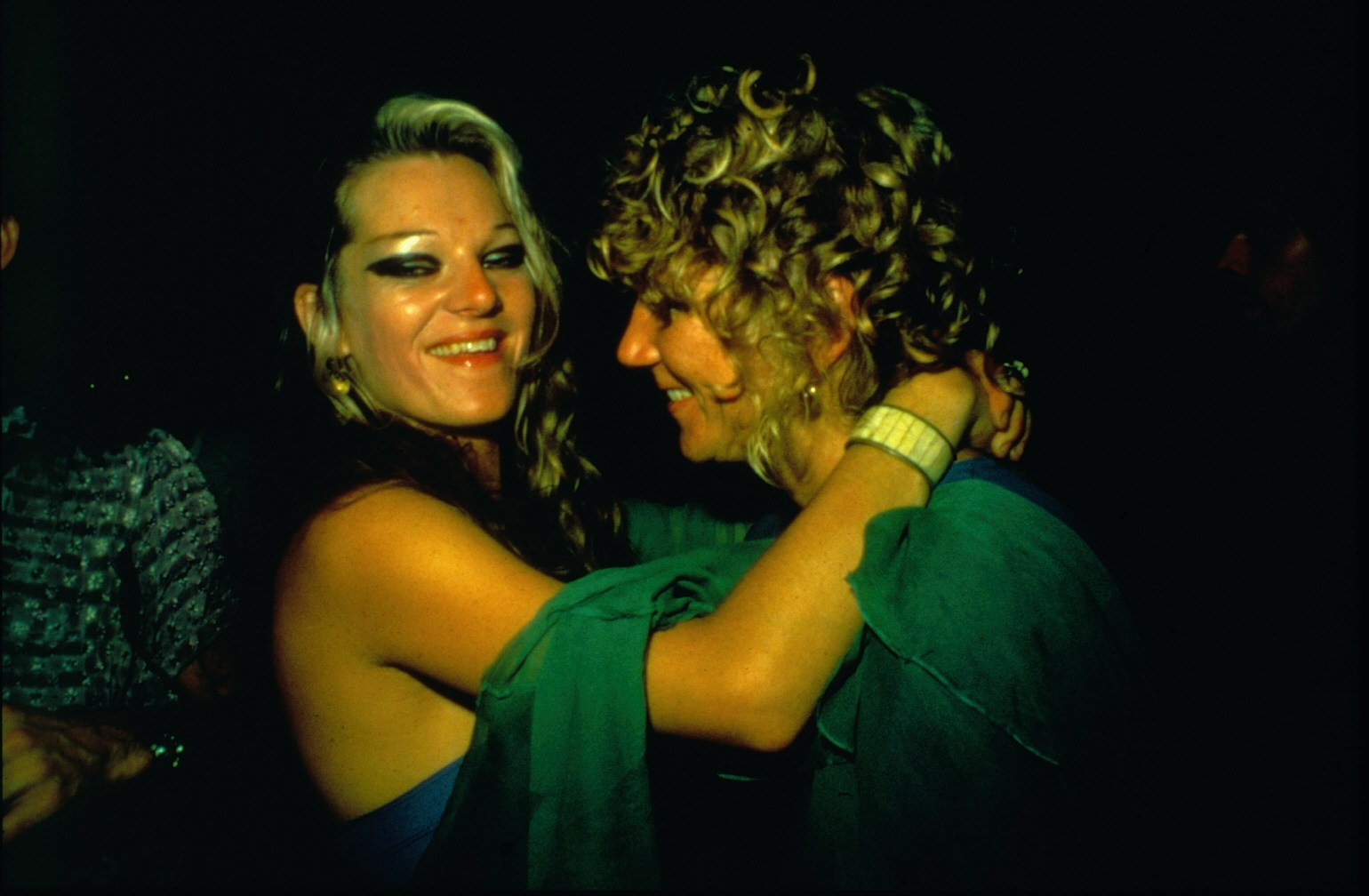 Cookie and Sharon dancing in the Back Room, Provincetown, MA, 1976