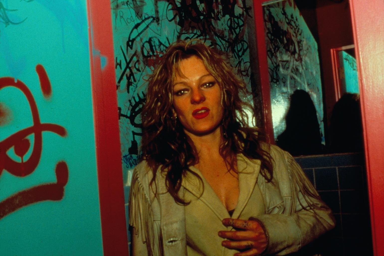 Cookie in Hawaii 5.0 bathroom, NYC, 1986