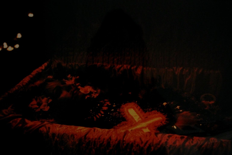 Cookie in her casket, NYC, November 15, 1989
