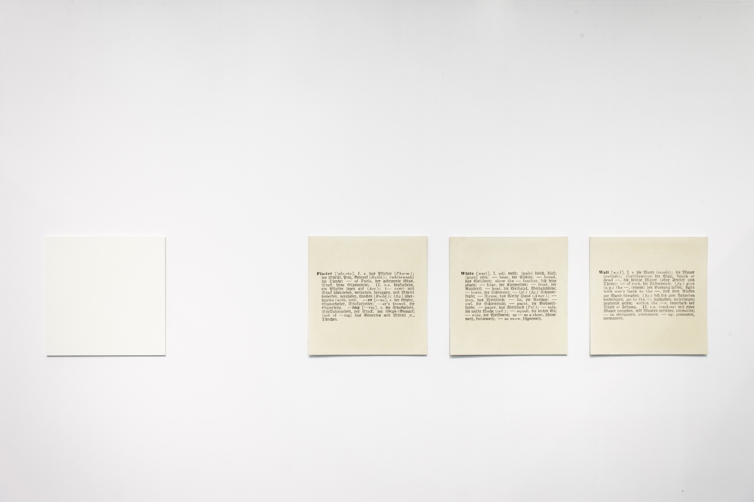 Wall-One and Five [Engl.-Germ.], 1965