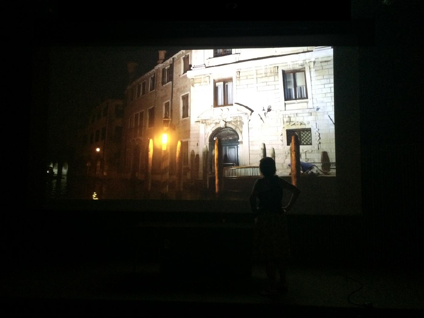 Imagen de la proyección de la película