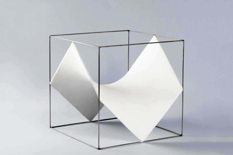 Cubo [División de un cubo por 6 paraboloides hiperbólicos], 1970