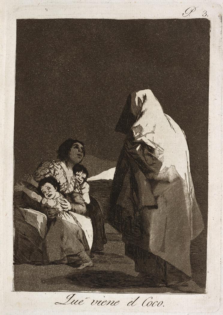 Caprichos. Que viene el Coco, 1799