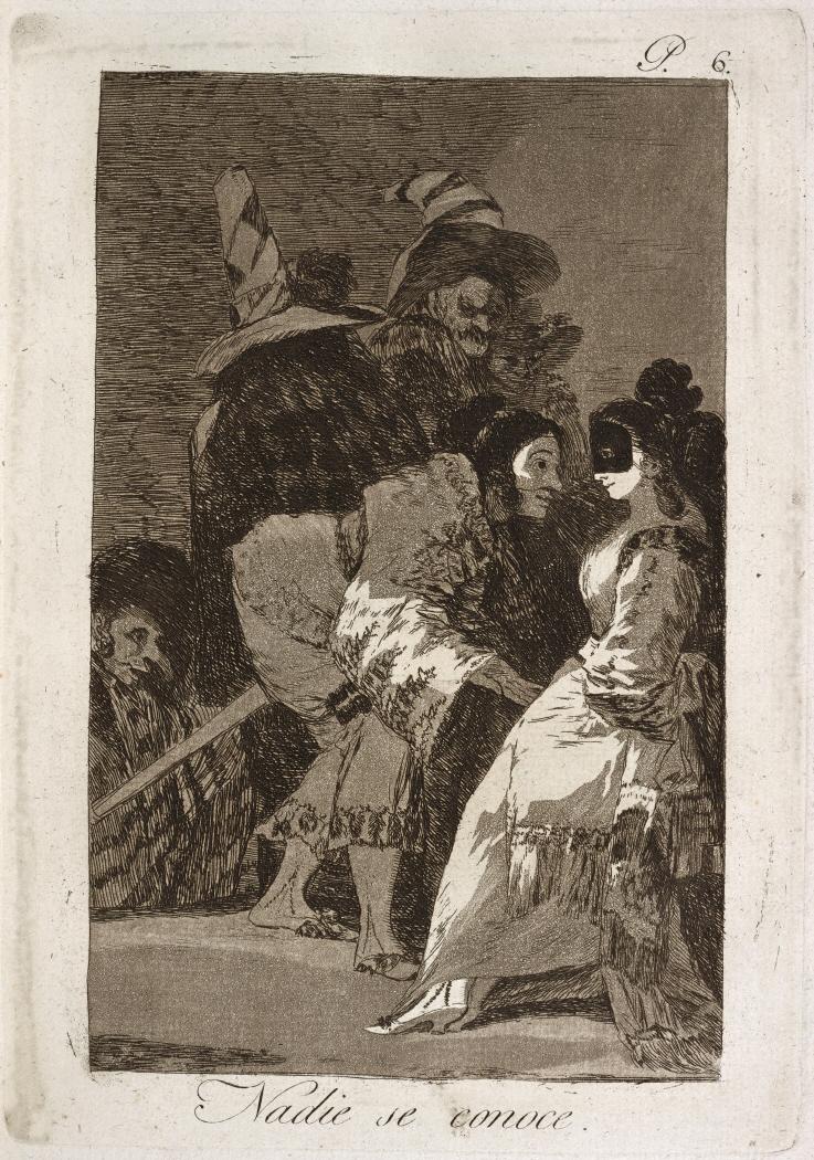 Caprichos. Nadie se conoce, 1799