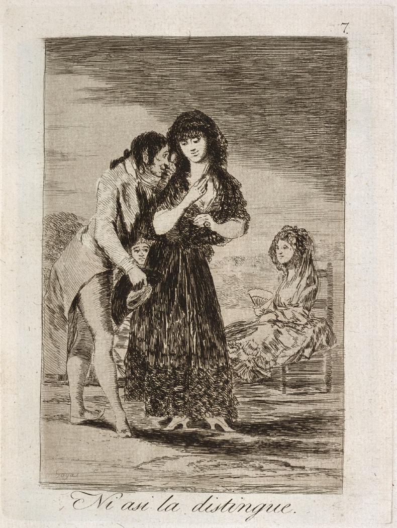 Caprichos. Ni asi la distingue, 1799