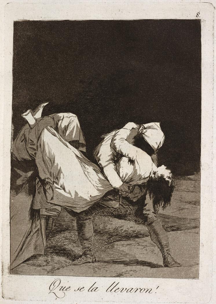 Caprichos. Que se la llevaron!, 1799