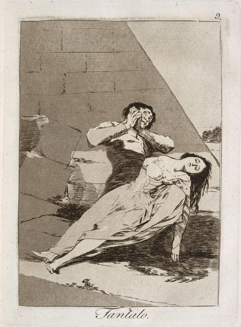 Caprichos. Tantalo, 1799