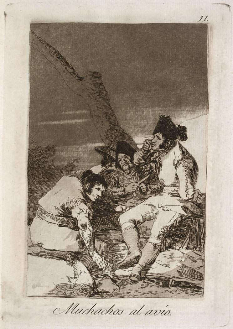 Caprichos. Muchachos al avío, 1799