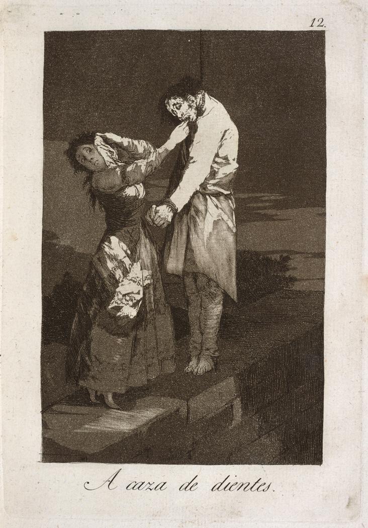 Caprichos. A caza de dientes, 1799