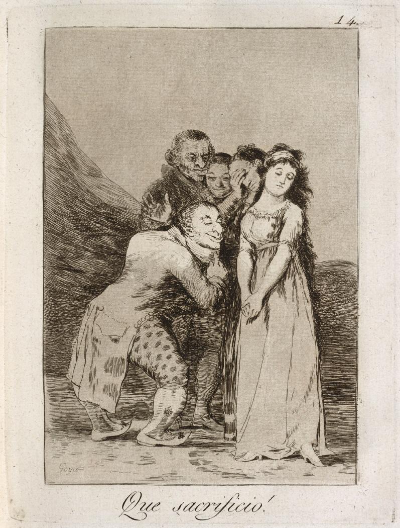 Caprichos. Que sacrificio!, 1799