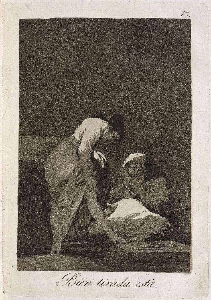 Caprichos. Bien tirada está, 1799
