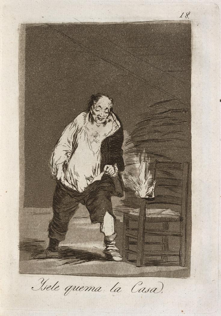 Caprichos. Y se le quema la Casa, 1799