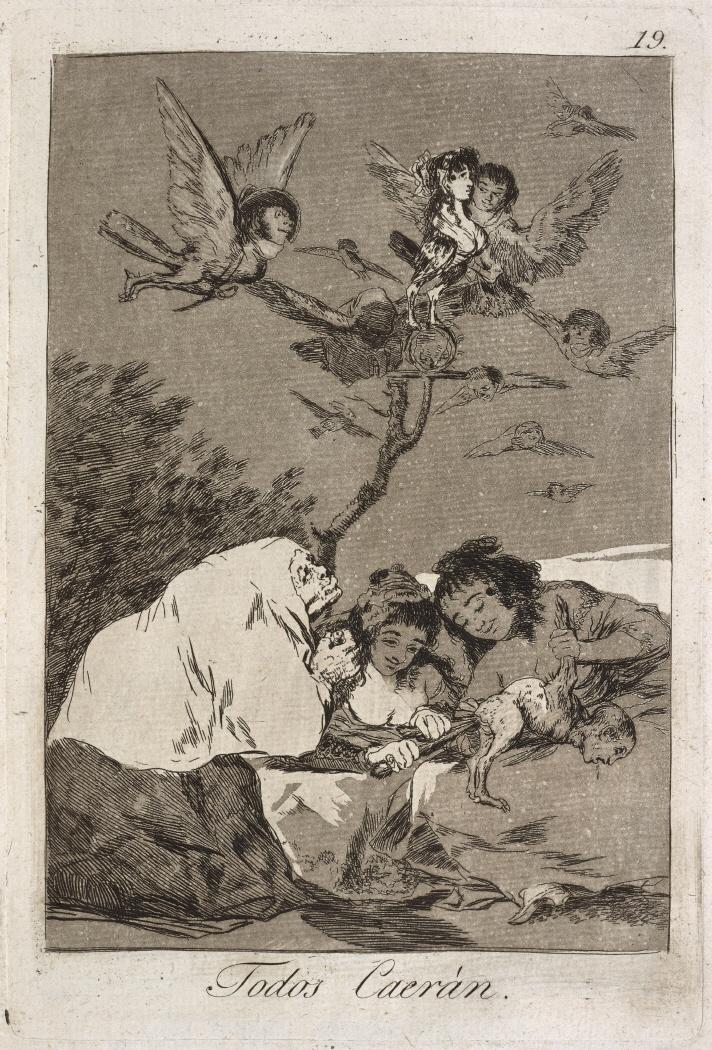Caprichos. Todos Caerán, 1799