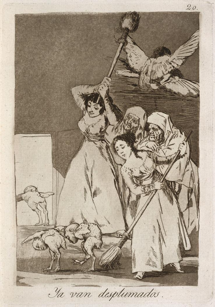 Caprichos. Ya van desplumados, 1799