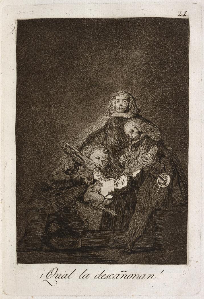 Caprichos. ¡Qual la descañonan!, 1799