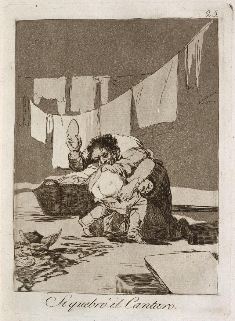 Caprichos. Si quebró el Cantaro, 1799