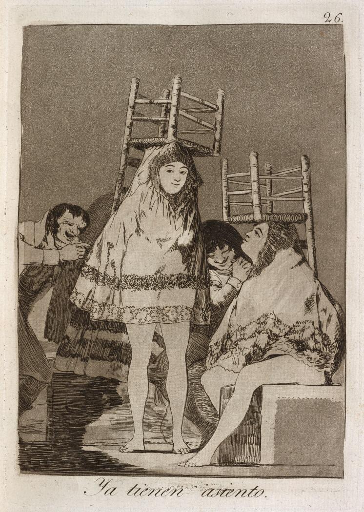 Caprichos. Ya tienen asiento, 1799