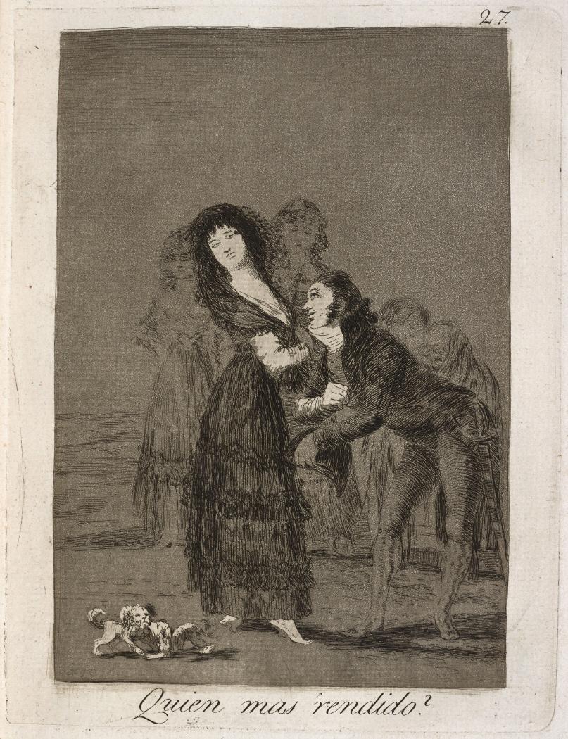 Caprichos. Quien mas rendido?, 1799