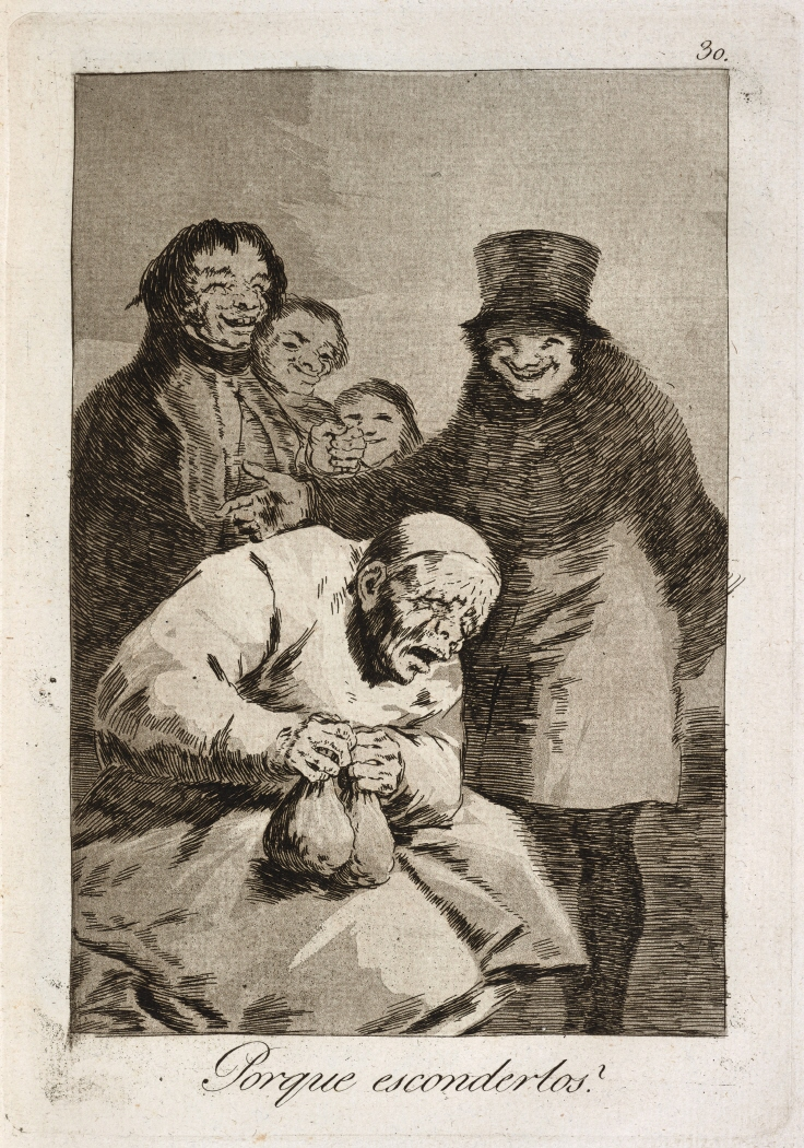 Caprichos. Porque esconderlos?, 1799