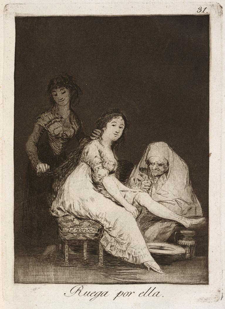 Caprichos. Ruega por ella, 1799