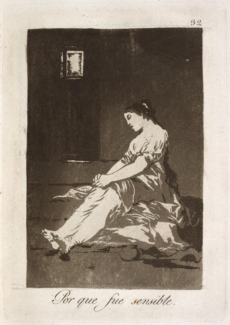 Caprichos. Por que fue sensible, 1799