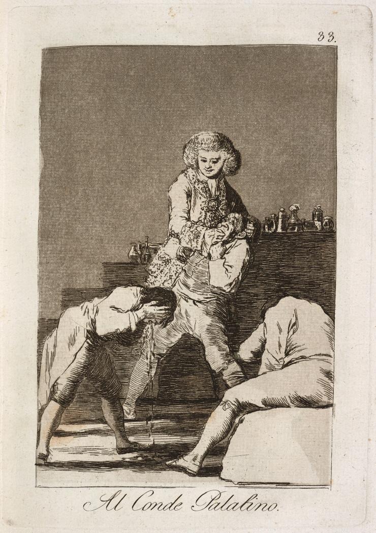 Caprichos. Al Conde Palatino, 1799
