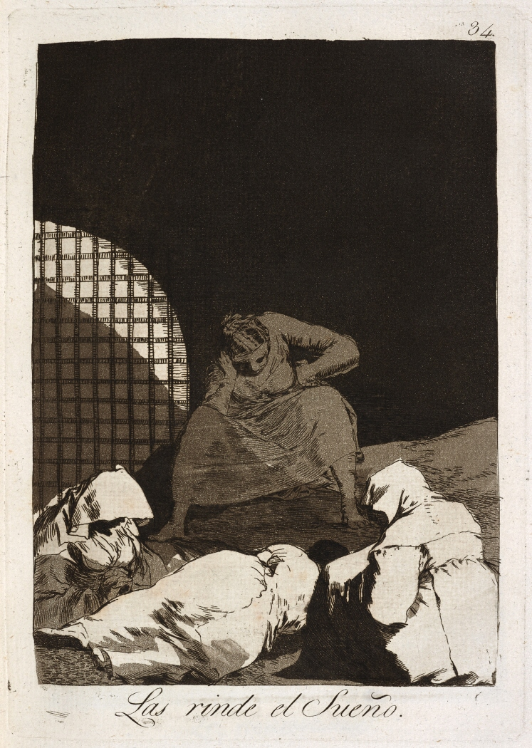 Caprichos. Las rinde el Sueño, 1799