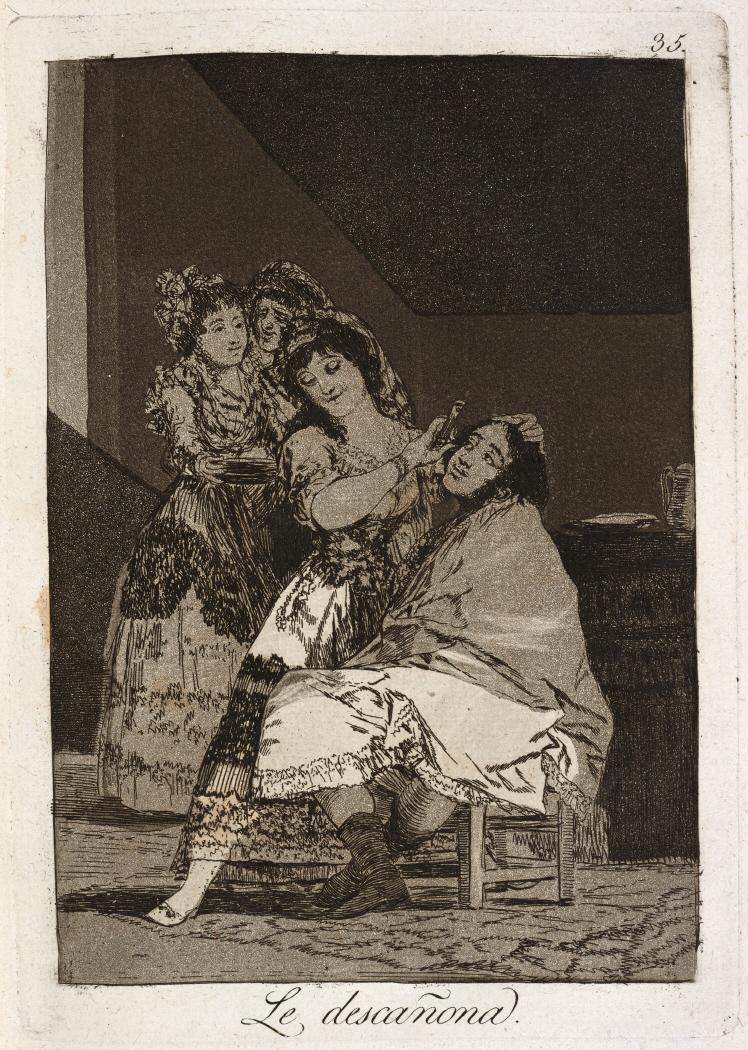 Caprichos. Le descañona, 1799