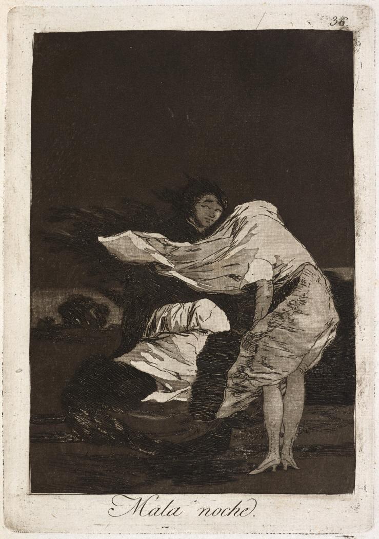 Caprichos. Mala noche, 1799