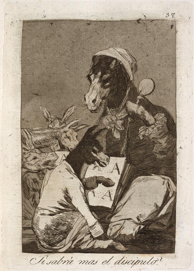Caprichos. Si sabrá mas el discipulo?, 1799