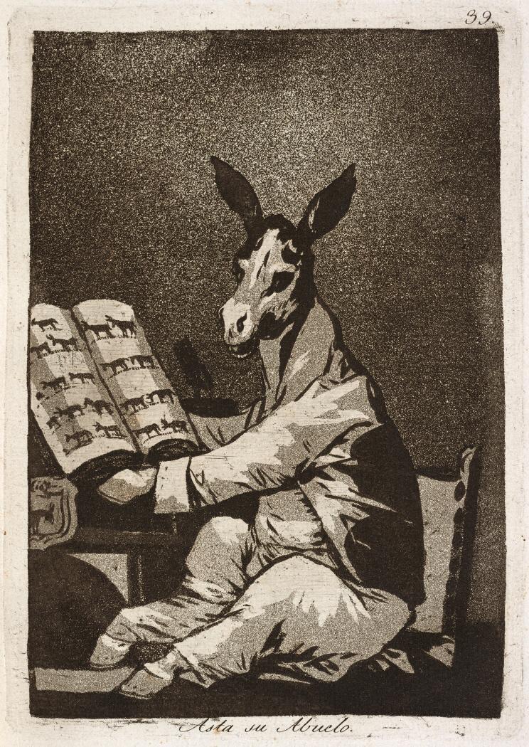 Caprichos. Asta su Abuelo, 1799