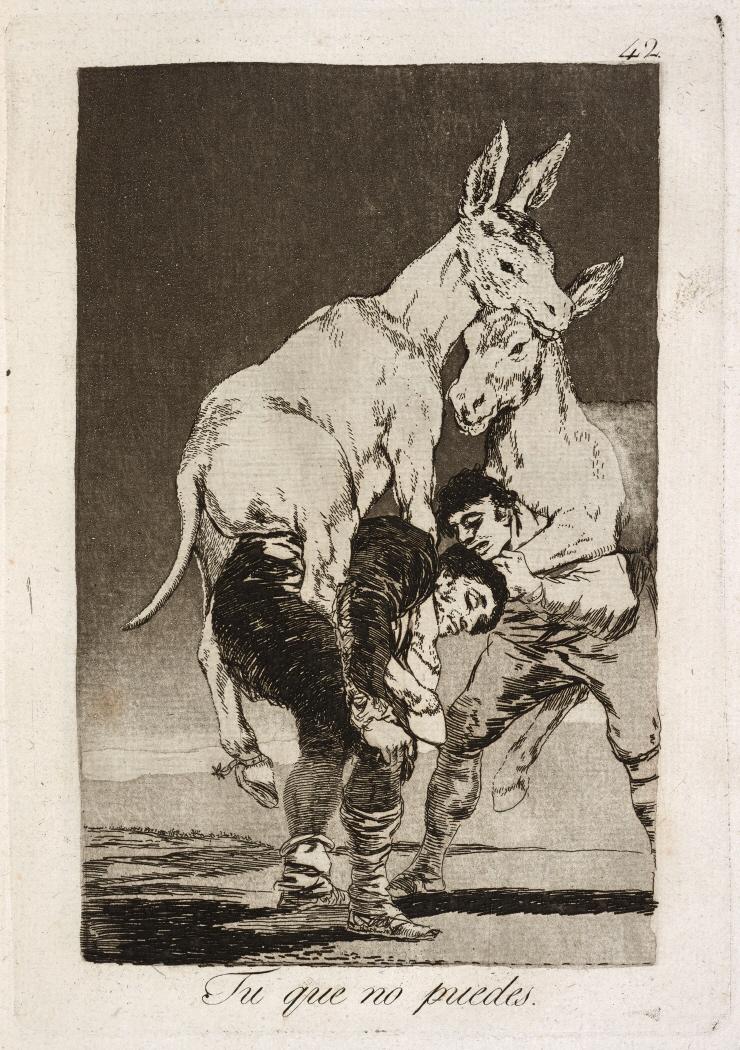 Caprichos. Tu que no puedes, 1799